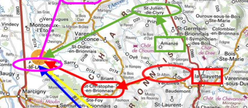 Répartition des provinces par tronçon